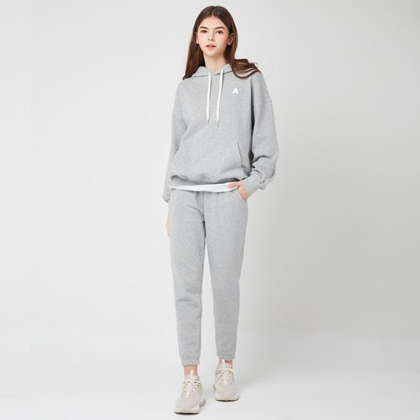 All Day Basic<br> Hood Jogger Pants Set<br> Melange Gray (for both men and women)