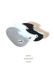 Collar Cotton Slipper (3 pairs)<br>