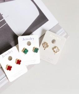 Color leaf earring<br>