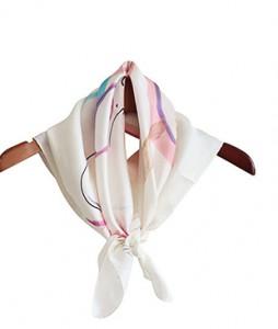 <br> Melro pastel Silk scarf <br><br>