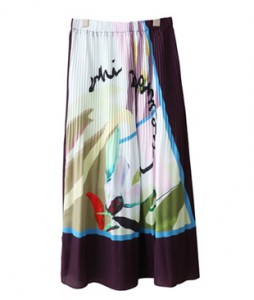 <br> Scan Print Banding Skirt <br><br>