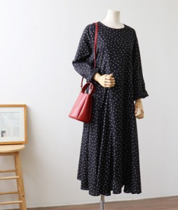<br> HERA Dot feminine Long Dress <br><br>
