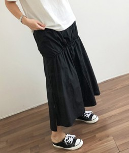 <br> Line Pretty Shirring Banding Skirt <br><br>