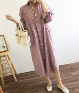 <br> Vertical Shirt Dress <br><br>