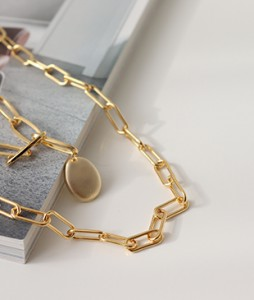 two lines Long chain Necklace<br>