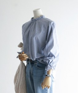ster Check blouse<br>