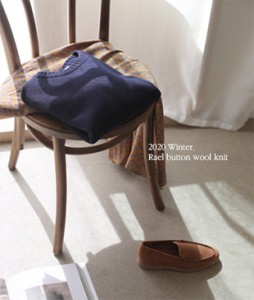 Rael button[839] wool knit<br>