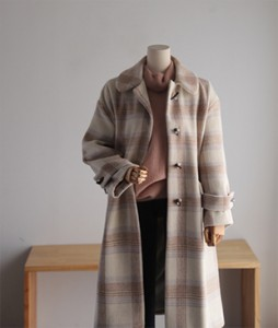 Rikle Check[573] Wool coat<br>