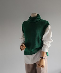 [30% off] Indi polo neck[817] shirt Wool knit<br>