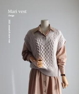 Mari Wool knit[786] vest<br>