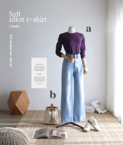Soft silket[952] tee<br>