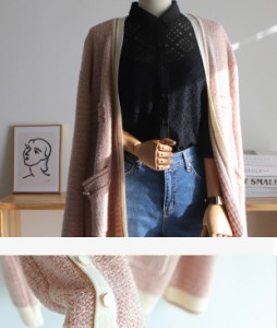 Tweed metal loose fit[062] cardigan<br>