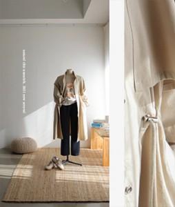 Elit string[178] long trench coat<br>