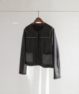 Foxy Tweed Leather[298] jacket<br>