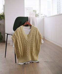 Basic twist knit[359] vest<br>
