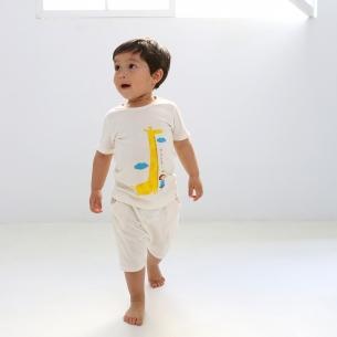 Bamboo organic clothing Short-sleeve wording sanghabok key _ (male)