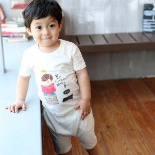 Bamboo organic clothing Short-sleeve wording sanghabok _ books (male)