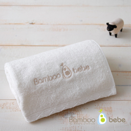 Pure bamboo roof-in face towel<br> Cream_40cmX80cm