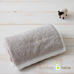 Pure bamboo roof-in face towel<br> Khaki Brown_40cmX80cm