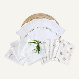 Word of mouth package <br> [5 square diapers + 10 original gauze handkerchiefs + 6 embossed handkerchiefs]