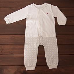 Bamboo Four Season Newborn Baby Innerwear Set  (Lucky Pattern)