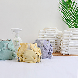 Pure Bamboo Safe Cloth Diaper Wancheon Package<br> <font color=#3a7eba><b>[Relief cloth diapers 20 sheets + NEWCover 3Piece + Doubler 4 sheets + Foaming detergent 1Piece]</b></font>