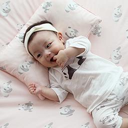 Bamboo Four Season Baby Bedding Set (Milky Pink)