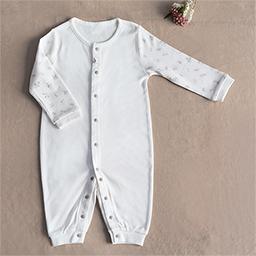 Bamboo Four Season Newborn Baby Jumpsuit (Flower Pattern)