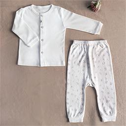 Bamboo Four Season Newborn Baby Innerwear Set  (Flower Pattern)