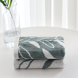 Bamboo Light Face Towel (Botanic Pattern)