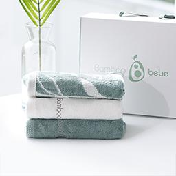 Bamboo Face Towel 3pcs set(Plain, Light, Dual Color)