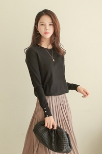 [ckak:kan 1 + 1] Life Round Button Knit MA11211