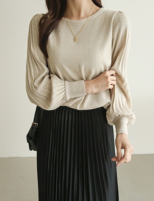 Ray wrinkle knit C012324