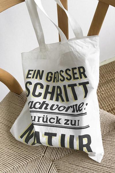 Nature printing bag