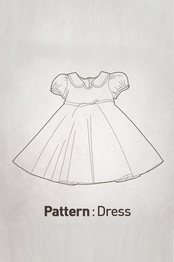 Round Collar Dress Pattern CTV-040(Child)