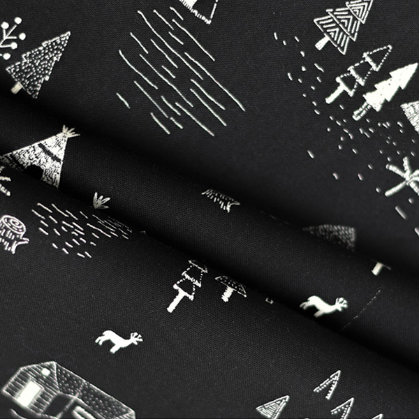 """Cotton sheeting-On The Road Black(44"""")"""