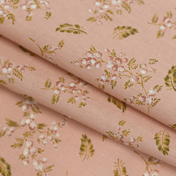 "Linen Cotton-Gold Mimosa Peach Blossom(54"")"