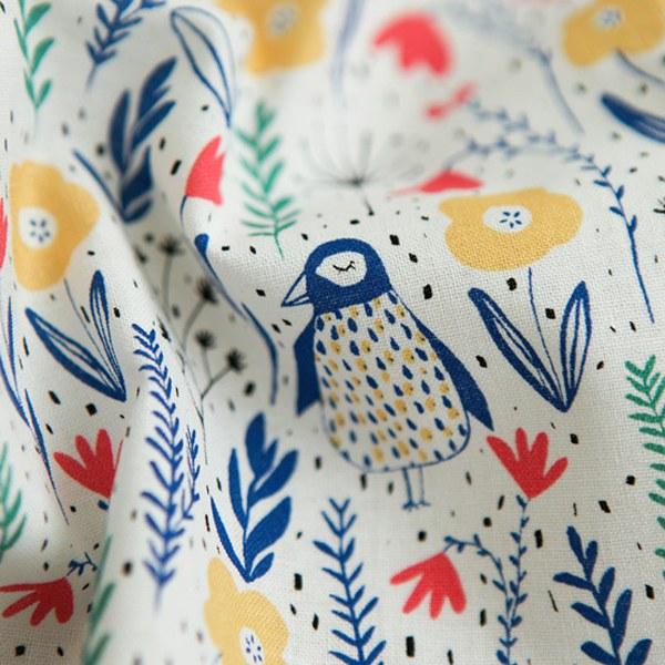 "Cotton sheeting-Majolein Odink Pino Bird(44"")"