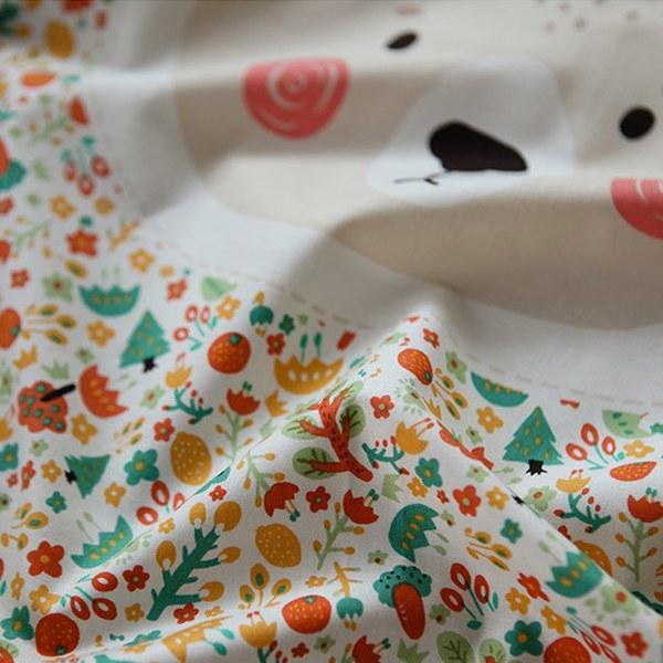 "Cotton sheeting-Mallang Luna Hello Forest Friends Stitch(44"")"
