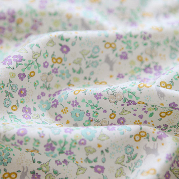 """Cotton sheeting-Forest of Cats Lavender(44"""")"""