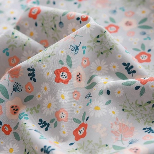 "Cotton sheeting-Tiny Garden Grey(44"")"