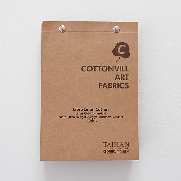Sample swatch book-Libre linen cotton(43colors)