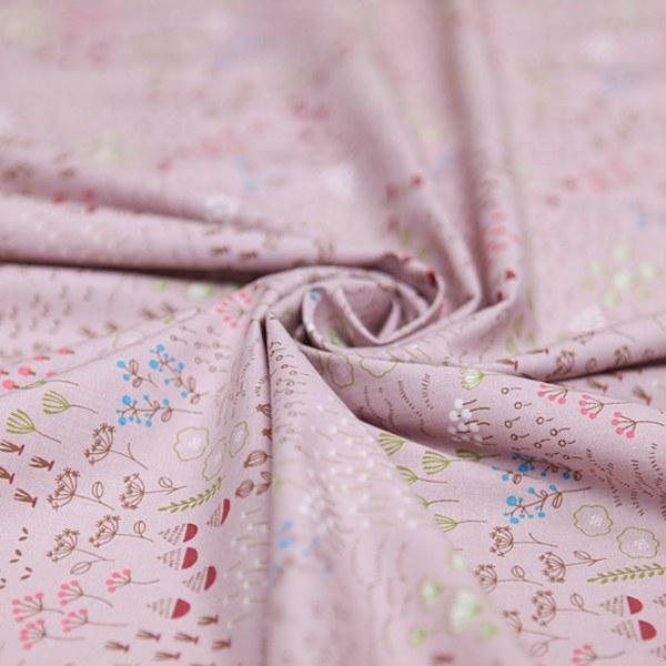 "Cotton sheeting-Woodland Indian Pink(44"")"