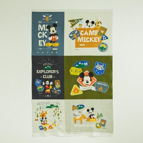 "Linen Cotton-Disney-Mickey Camping(54"")"