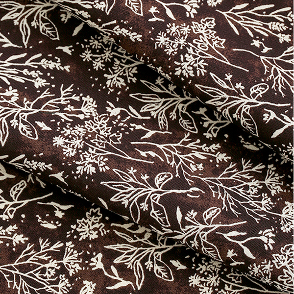 """Cotton sheeting-Blue Meadow Chestnut Brown(44"""")"""