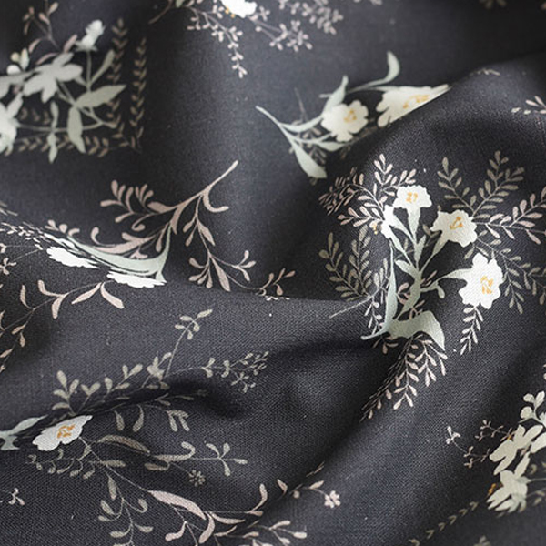 "Linen Cotton-Cotton blossom Charcoal(54"")"