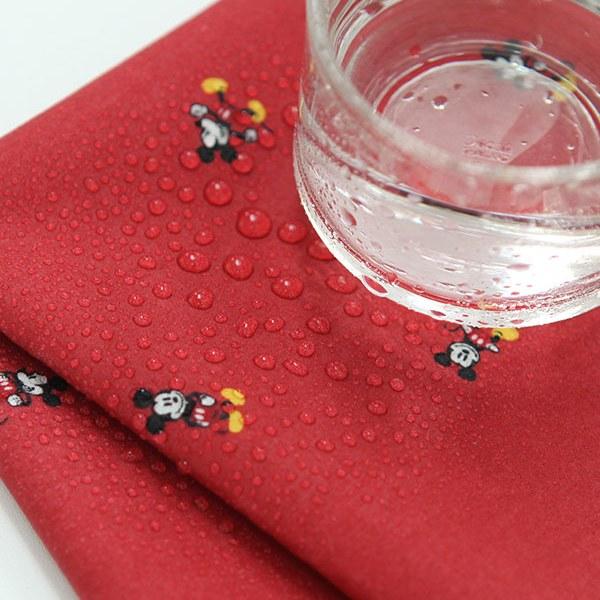 "Laminated Cotton-Disney-Mickey Bonbon Red(44"")"