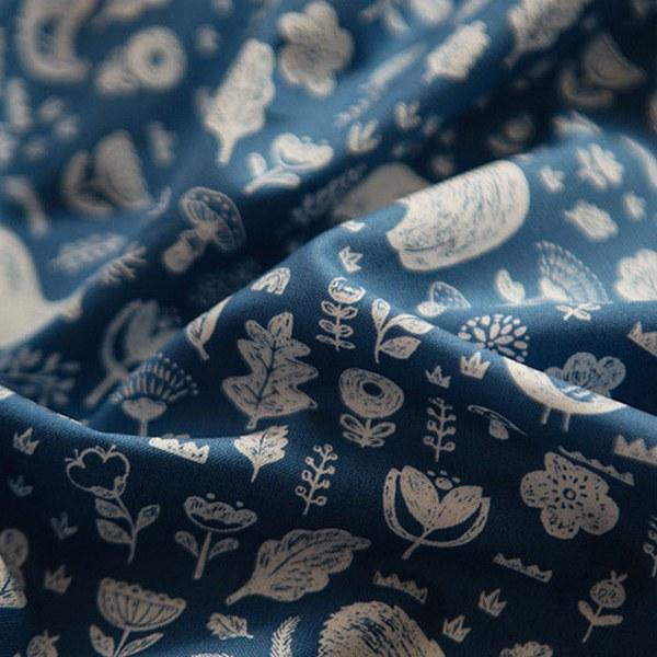 """Cotton sheeting-Norwegian Forest Deep Blue(44"""")"""