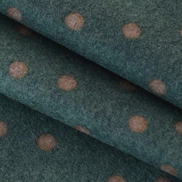 "Flannel-Dot Green(44"")"