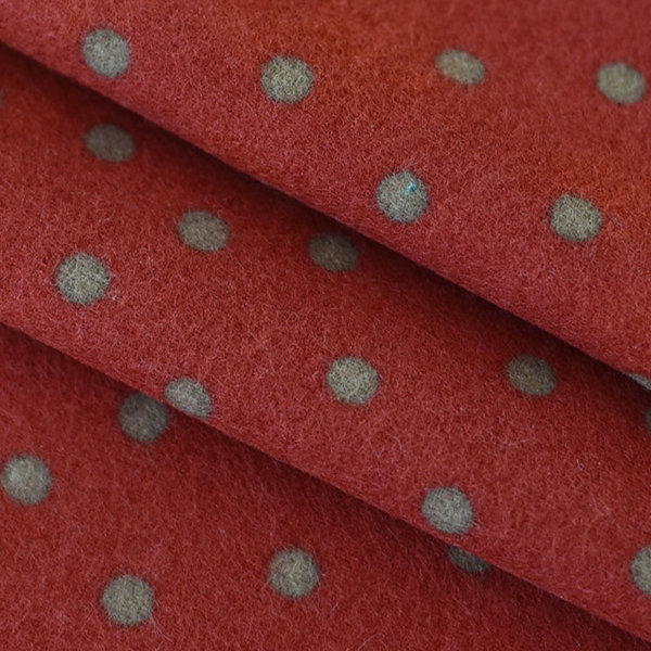 """Flannel-Dot Red(44"""")"""